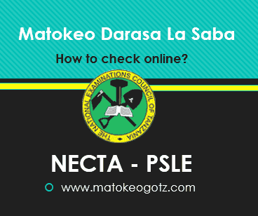 How to check PSLE Result 2020 NECTA