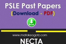 NECTA PSLE Past Papers
